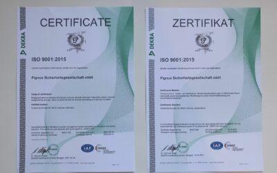 DIN ISO 9001:2015    –Qualitätsmanagement bestätigt durch unbeteiligten Dritten